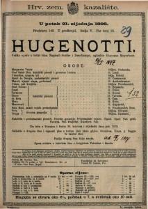 Hugenotti Velika opera u četiri čina / uglazbio Giacomo Meyerbeer