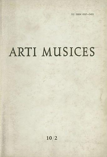 God. 10(1979), br. 2 : Arti musices