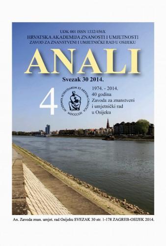 Sv. 30 (2014) : Anali Zavoda za znanstveni i umjetnički rad u Osijeku