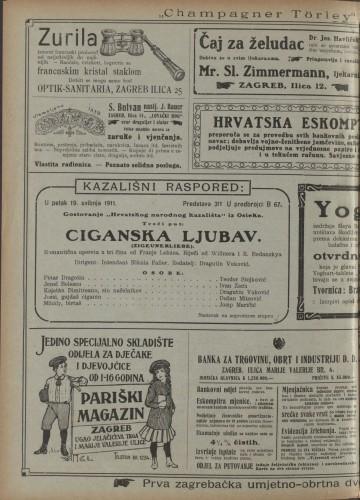 Ciganska ljubav  =  Zigeunerliebe : Romantična opereta u tri čina