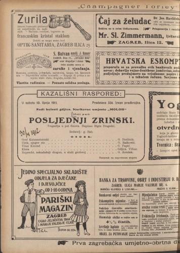 Posljednji Zrinski : Tragedija u pet činova