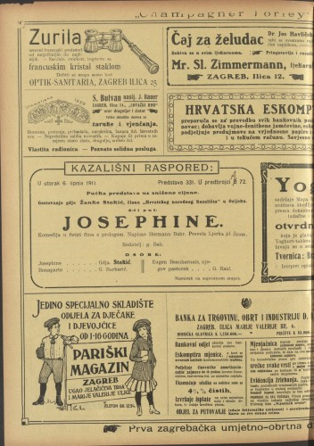 Josephine Komedija u četiri čina s prologom