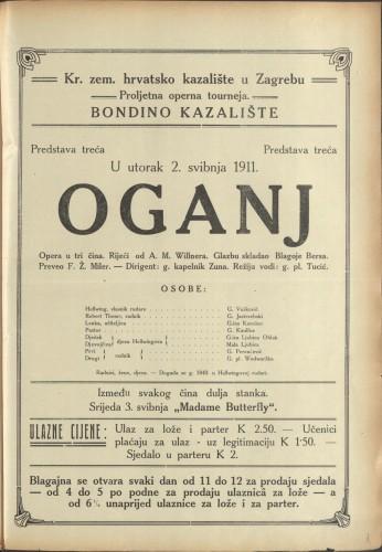 Oganj : Opera u tri čina