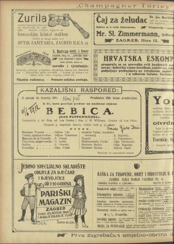 Bebica Vaudeville u tri čina  =  Das Puppenmädel