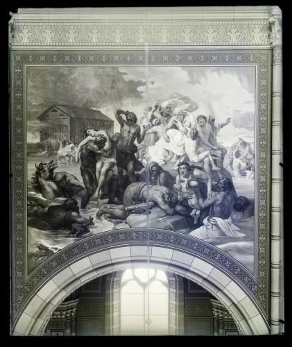 Katedrala sv. Petra (Đakovo) : Opći potop, freska u brodu