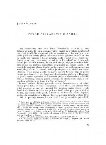 Petar Preradović u Zadru