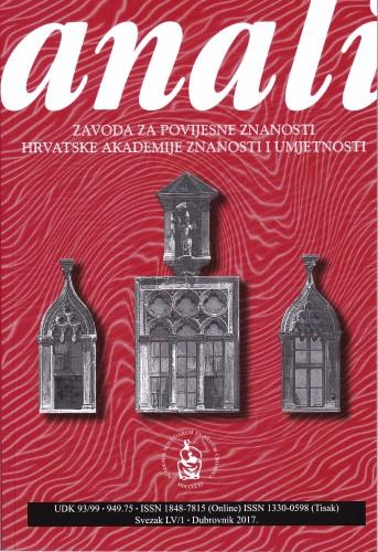 Sv. 55/1 (2017) : Anali Zavoda za povijesne znanosti Hrvatske akademije znanosti i umjetnosti u Dubrovniku