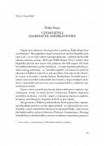 Utemeljitelj zagrebačke amerikanistike : Željko Bujas