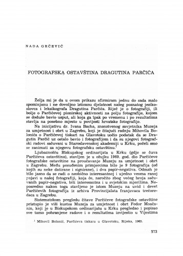 Fotografska ostavština Dragutina Parčića