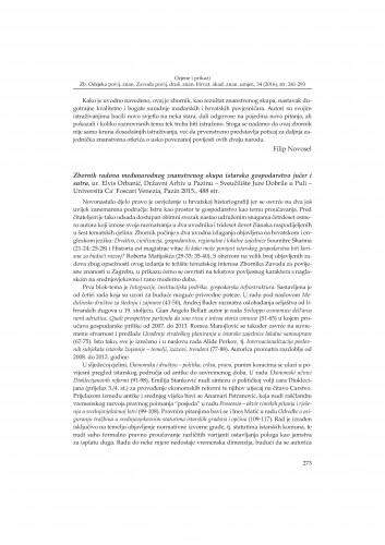 Zbornik radova međunarodnog znanstvenog skupa istarsko gospodarstvo jučer i sutra, ur. Elvis Orbanić, Državni Arhiv u Pazinu - Sveučilište Jure Dobrile u Puli - Universita Ca' Foscari Venezia, Pazin 2015. : [prikaz]