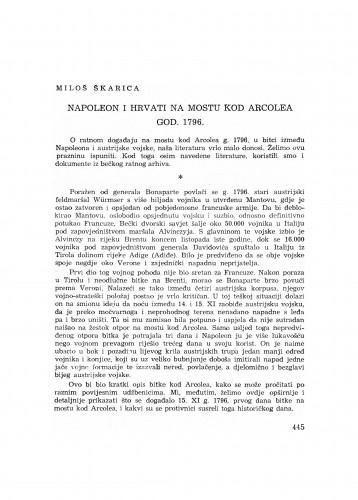 Napoleon i Hrvati na mostu kod Arcolea god. 1796.