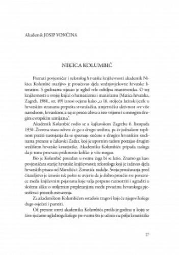 Nikica Kolumbić