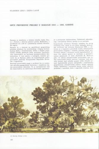 Opće privredne prilike  u Baranji : 1918-1985. godine