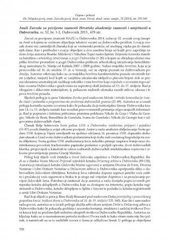Anali Zavoda za povijesne znanosti Hrvatske akademije znanosti i umjetnosti u Dubrovniku, sv. 52, br. 1-2, Dubrovnik 2013. : [prikaz]
