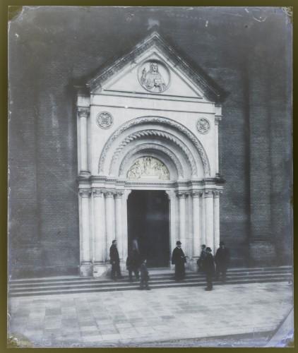 Schmidt, Friedrich von   ; Plančić, Josip (1840)  ; Rösner, Karl  : Katedrala sv. Petra (Đakovo) : glavni portal [C. Angerer & Göschl  ]