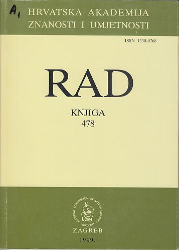 Knj. 37(1999) : RAD