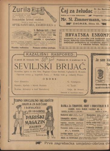 Seviljski brijač Komična opera u dva čina