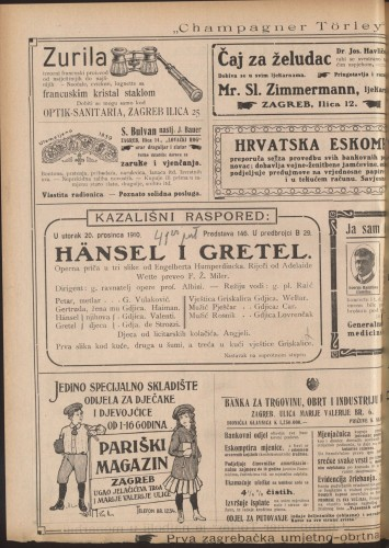 Hänsel i Gretel Operna priča u tri slike