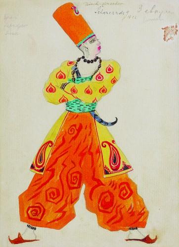 Šeherezada Balet u jednom činu Mihaila Mihajloviča Fokina i Leva Samojloviča Baksta  =  Shekherazáda