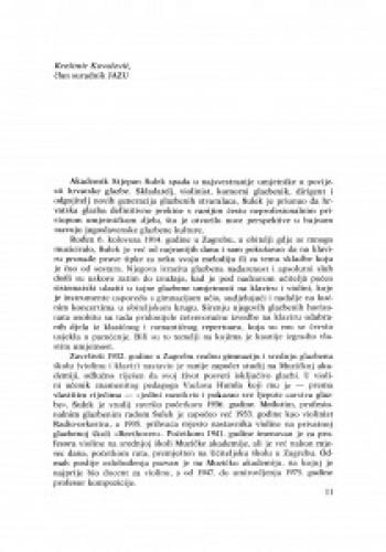Riječ Krešimira Kovačevića, člana suradnika JAZU