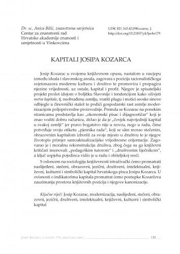 Kapitali Josipa Kozarca