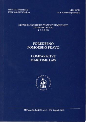 Br. 171(2017) = god. 56 : Poredbeno pomorsko pravo