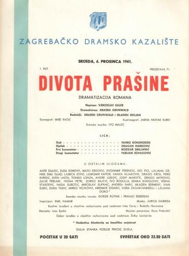 Divota prašine Dramatizacija romana
