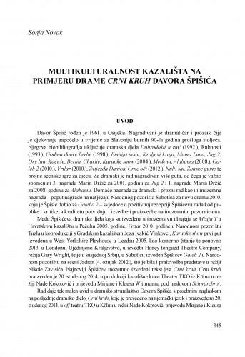 Multikulturalnost kazališta na primjeru drame Crni kruh Davora Špišića