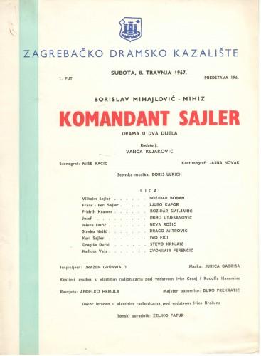 Komandant Sajler Drama u dva dijela
