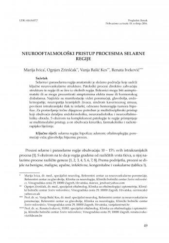 Neurooftalmološki pristup procesima selarne regije