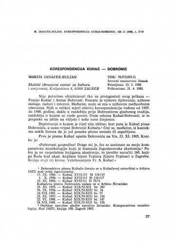 Korespondencija Kuhač – Dobronić