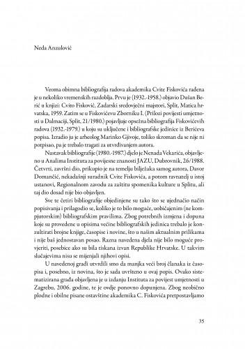 Bibliografija radova akademika Cvite Fiskovića 1932.-1997.