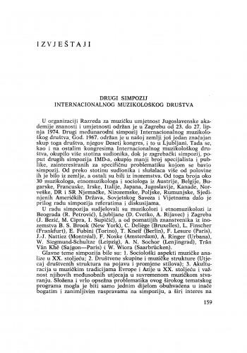 Drugi simpozij Internacionalnog muzikološkog društva