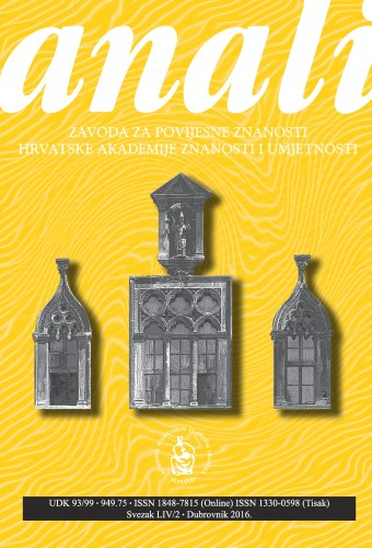 Sv. 54/2 (2016) : Anali Zavoda za povijesne znanosti Hrvatske akademije znanosti i umjetnosti u Dubrovniku