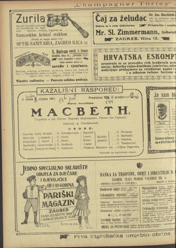 Macbeth Tragedija u pet činova