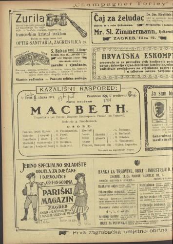 Macbeth Tragedija u pet činova