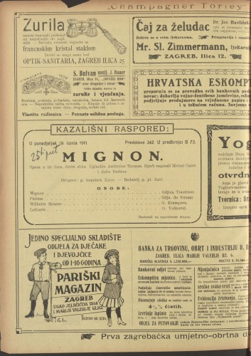 Mignon : Opera u tri čina