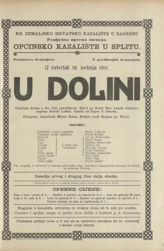U dolini : Glazbena drama u dva čina s predigrom