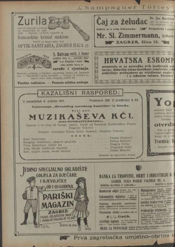 Muzikaševa kći Opereta u tri čina  =  Das Musikantenmädel