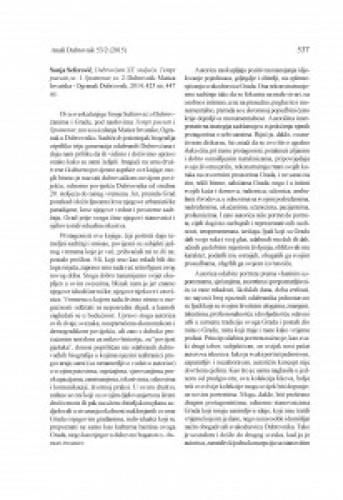 Sonja Seferović, Dubrovčani XX. stoljeća. Tempi passati, sv. 1. Spomenar, sv. 2. Dubrovnik: Matica hrvatska - Ogranak Dubrovnik, 2014 : [prikaz] / Slavica Stojan