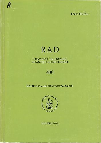 Knj. 38(2000) : RAD