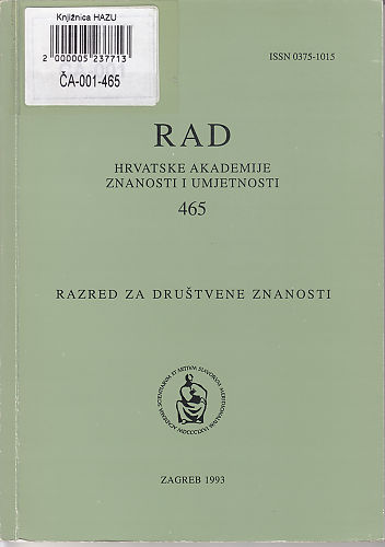 Knj. 32(1993) : RAD