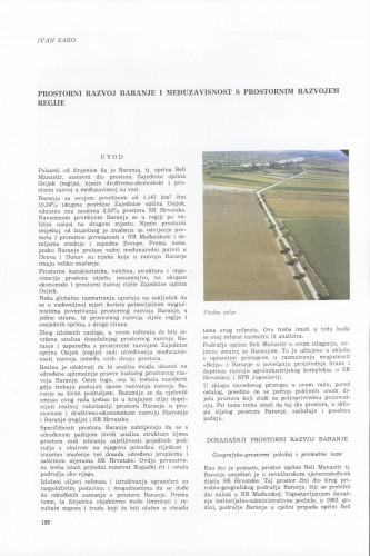 Prostorni razvoj Baranje i međuzavisnosti s prostornim razvojem regije