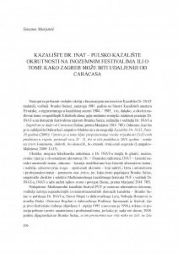 Kazalište Dr. Inat - pulsko kazalište okrutnosti na inozemnim festivalima ili o tome kako Zagreb može biti udaljeniji od Caracasa