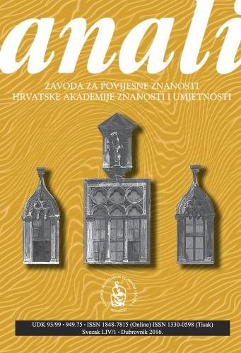 Sv. 54/1 (2016) : Anali Zavoda za povijesne znanosti Hrvatske akademije znanosti i umjetnosti u Dubrovniku