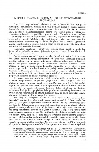 Mirno rješavanje sporova u krilu regionalnih sporazuma : Vladimir Đuro Degan - zbirka knjiga i članaka