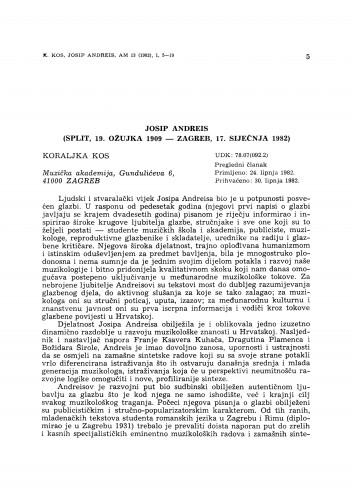 Josip Andreis (Split, 19. ožujka 1909 – Zagreb, 17. siječnja 1982)