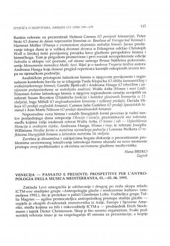 Passato e presente: Prospettive per l'antropologia della musica mediterranea, Venecija, 01.-03. 06. 1995.
