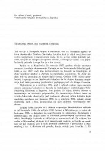 Akademik prof. dr Teodor Varićak