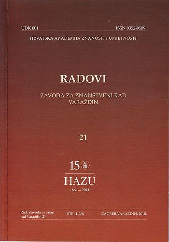 Knj. 21 (2010) : Radovi Zavoda za znanstveni rad Varaždin